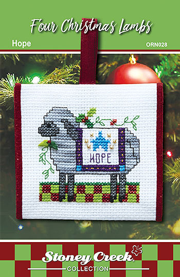 Ornament Chart - Hope (Four Christmas Lambs) MAIN