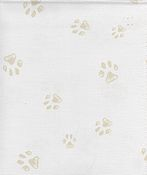 Fabric Flair Paw Prints Evenweave 28ct