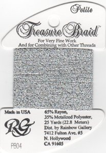 Rainbow Gallery Petite Treasure Braid PB04 Silver MAIN