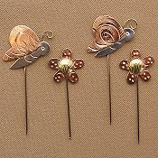 Puffin Counting Pins - Flowers & Butterflies