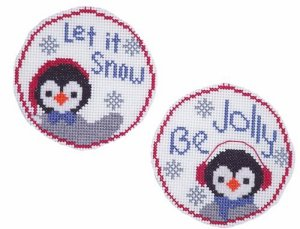 Handblessings - Circle Ornaments - Penguin Pair MAIN