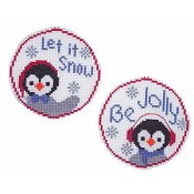 Handblessings - Circle Ornaments - Penguin Pair
