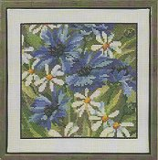 Permin Kit - Blue Flowers THUMBNAIL