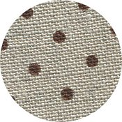 Belfast Linen 32ct Petit Point - Raw Natural w/ Brown Dots