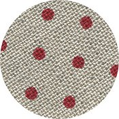 Belfast Linen 32ct Petit Point - Raw Natural w/ Red Dots