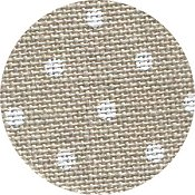 Belfast Linen 32ct Petit Point - Raw Natural w/ White Dots_THUMBNAIL
