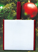 Banded Ornament - 14ct White Aida w/ Burgundy Trim THUMBNAIL