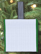Banded Ornament - 14ct White Aida w/ Green Trim THUMBNAIL