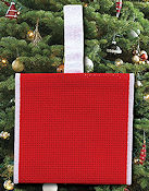 Banded Ornament - 14ct Red Aida w/ White Trim THUMBNAIL