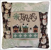 Pine Mountain Designs - Small Pillow Kit - January THUMBNAIL