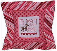 Pine Mountain Designs - Flange Pillow Sham - February I Love You Deerly