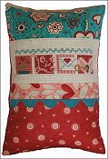 Pine Mountain Designs - Rick Rack Row Pillow - February