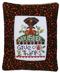 Pine Mountain Designs - Rectangle Pillow - November Give Thanks MAIN