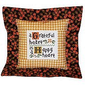 Pine Mountain Designs - Flange Pillow Sham - November A Greatful Heart - Sold Out/Retired