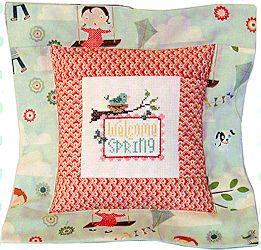 Pine Mountain Designs - Flange Pillow Sham - April Welcome Spring MAIN