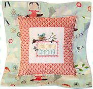 Pine Mountain Designs - Flange Pillow Sham - April Welcome Spring THUMBNAIL