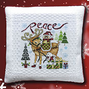 "October 2019 Pattern of the Month ""Christmas Critters ~ Peace"" THUMBNAIL"