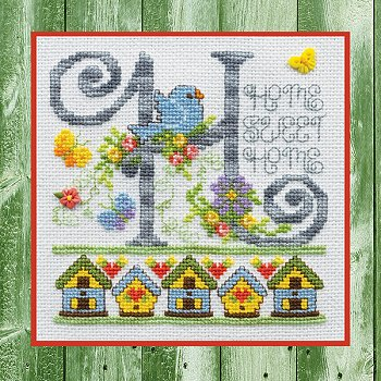 "December 2019 Pattern of the Month - Spring Home Banner ""H"" MAIN"