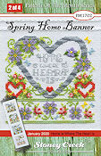 "January 2020 Pattern of the Month - Spring Home Banner ""O"" THUMBNAIL"