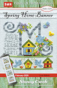 "February 2020 Pattern of the Month - Spring Home Banner ""M"" THUMBNAIL"