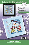 "October 2020 Pattern of the Month ""Summer Snowman"" THUMBNAIL"