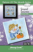 "November 2020 Pattern of the Month ""Autumn Snowman"" THUMBNAIL"