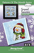 "December 2020 Pattern of the Month ""Winter Snowman"" THUMBNAIL"