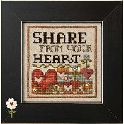 "January 2015 Pattern of the Month ""Share From Your Heart"""
