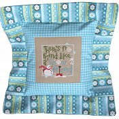 Pine Mountain Designs - Flange Pillow Sham - January Snow Friend THUMBNAIL