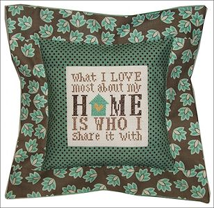 Pine Mountain Designs - Flange Pillow Sham - What I Love About My Home MAIN