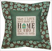 Pine Mountain Designs - Flange Pillow Sham - What I Love About My Home THUMBNAIL