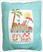 Pine Mountain Designs - Rectangle Pillow - August Life's A Beach THUMBNAIL