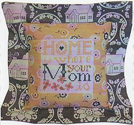 Pine Mountain Designs - Flange Pillow Sham - May Home Is Where Your Mom Is MAIN