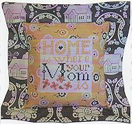 Pine Mountain Designs - Flange Pillow Sham - May Home Is Where Your Mom Is