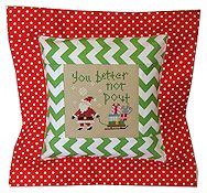 Pine Mountain Designs - Flange Pillow Sham - You Better Not Pout