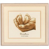 Vervaco Cross Stitch Kit - Tiny Feet THUMBNAIL