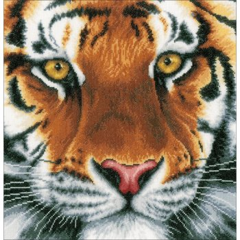 Lanarte Cross Stitch Kit - Tiger MAIN