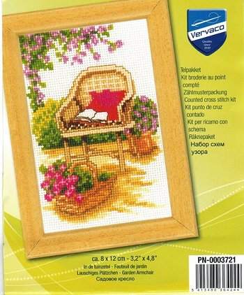 Vervaco Cross Stitch Kit - Wicker Chair THUMBNAIL