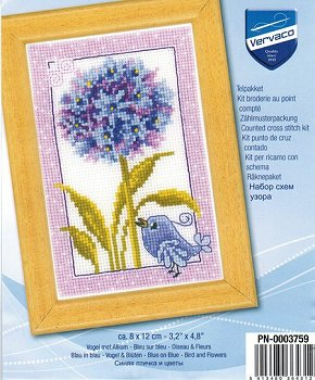Vervaco Cross Stitch Kit - Blue Hydrangea