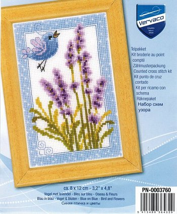Vervaco Cross Stitch Kit - Purple Lavender THUMBNAIL