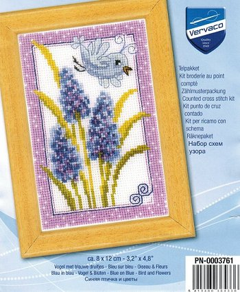 Vervaco Cross Stitch Kit - Blue Veronica