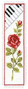 Vervaco Cross Stitch Kit - Rose with Piano Kit THUMBNAIL