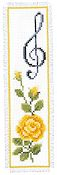 Vervaco Cross Stitch Kit - Rose with Treble Clef THUMBNAIL