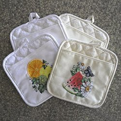 KitchenMates Potholder White_THUMBNAIL