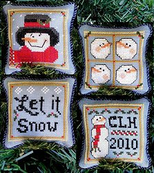 Prairie Grove Peddler - Snowman Ornaments MAIN