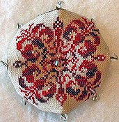 Praiseworthy Stitches - Christmas Biscornu THUMBNAIL