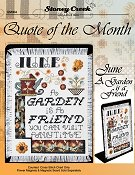 Quote of the Month - June (A Garden is a Friend) THUMBNAIL