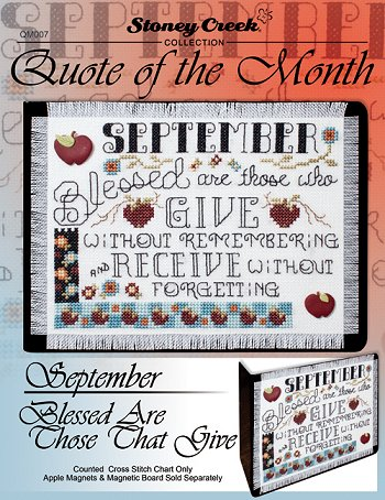 Quote of the Month - September (Blessed Are Those That Give) MAIN
