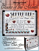 Quote of the Month - September (Blessed Are Those That Give) THUMBNAIL