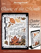 Quote of the Month - October (Leaves of Kindness)